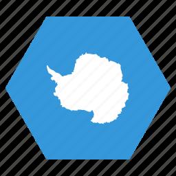 antarctic, antarctica, continent, flag icon