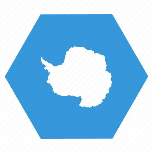 antarctic, antarctica, continent, flag icon
