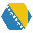 bosnia, country, european, flag, herzegovina, national icon