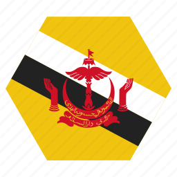 asian, brunei, country, flag, national icon