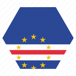 cape, country, flag, national, verde icon