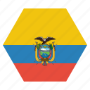 country, ecuador, flag, national icon