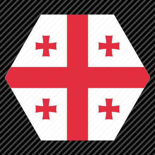 country, european, flag, georgia, georgian, national icon