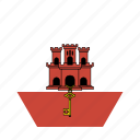 country, european, flag, gibraltar, national icon
