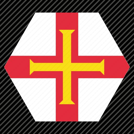 country, european, flag, guernsey, national icon