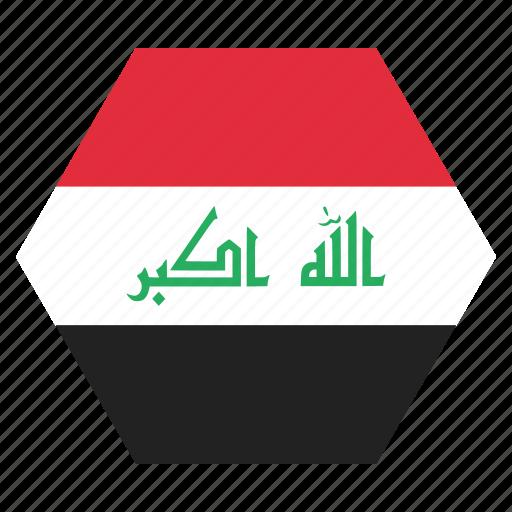 asian, country, flag, iraq, iraqi, national icon
