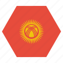 country, flag, kyrgyzstan, national, asian, kyrgyzstani