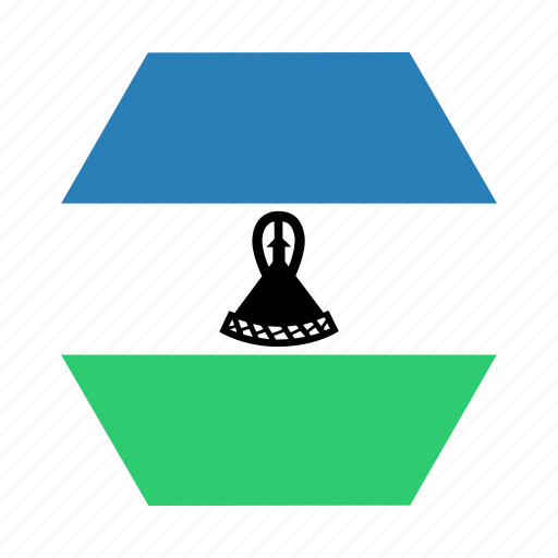 african, country, flag, lesothan, lesotho, national icon