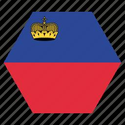 country, european, flag, liechtenstein, national icon