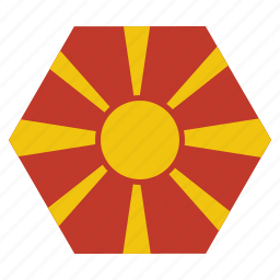 country, european, flag, macedonia, macedonian, national icon