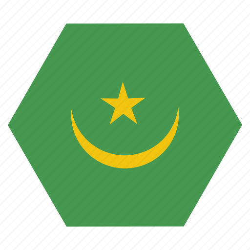 african, country, flag, mauritania, mauritanian, national icon