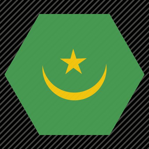 african, country, flag, mauritania, mauritanian, national icon