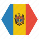 country, european, flag, moldova, moldovan, national icon