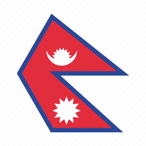 asian, country, flag, national, nepal, nepali icon