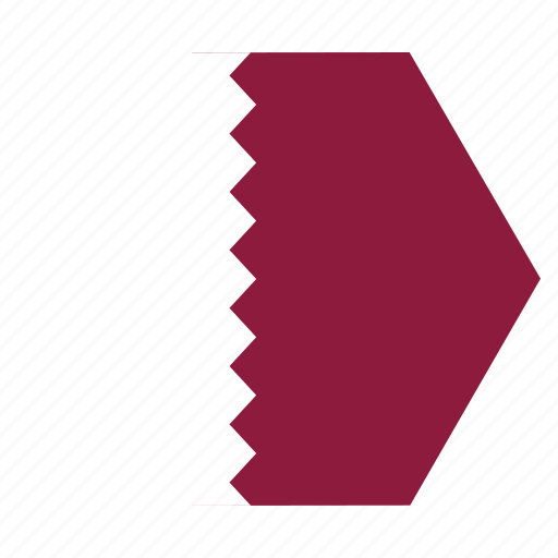 asian, country, flag, national, qatar, qatari icon