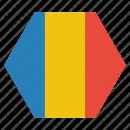 country, european, flag, national, romania, romanian icon