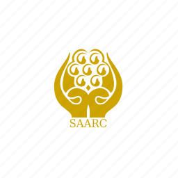 asian, flag, saarc icon