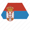 country, european, flag, national, serbia, serbian icon