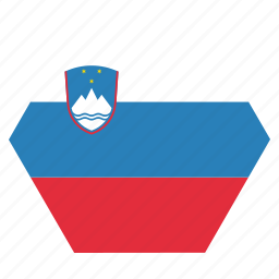 country, european, flag, national, slovenia, slovenian icon