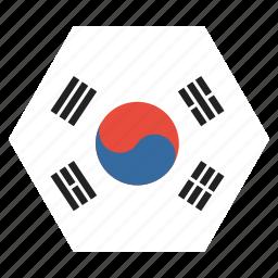 asian, country, flag, korea, korean, national, south icon