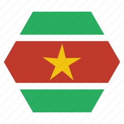 african, country, flag, national, suriname, surinamese icon