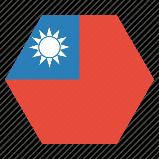 asian, flag, national, taiwan, taiwanese icon