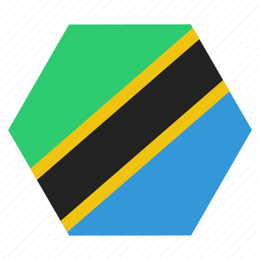 african, country, flag, national, tanzania, tanzanian icon