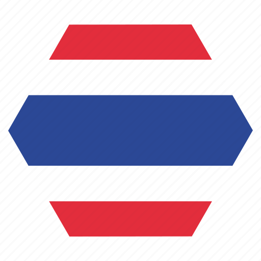 asian, country, flag, national, thai, thailand icon