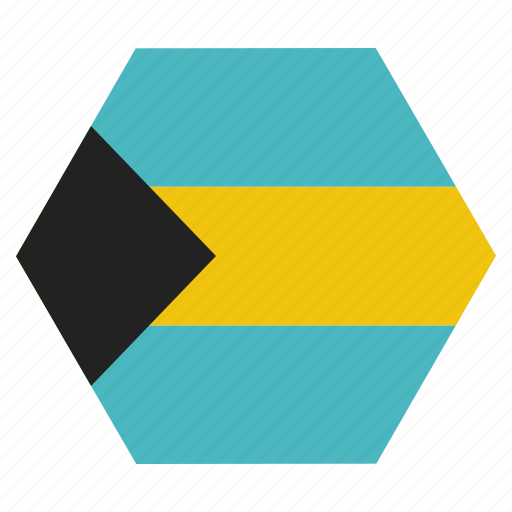 bahamas, country, flag, national, the icon