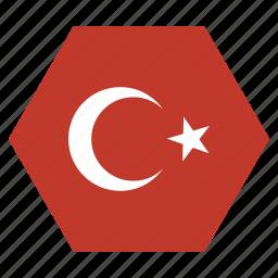 country, european, flag, national, turkey, turkish icon