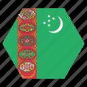 country, flag, national, turkmenistan, asian, turkmenistani