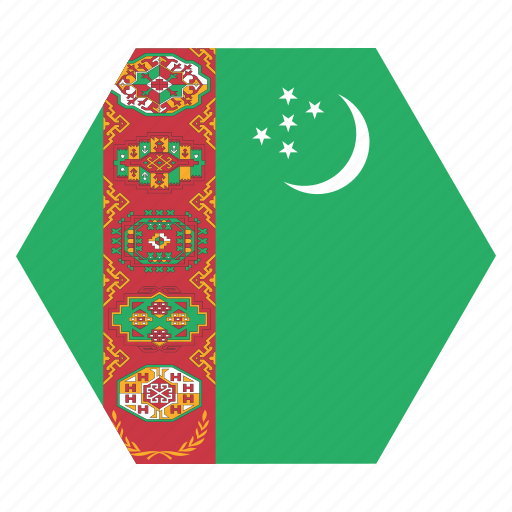 asian, country, flag, national, turkmenistan, turkmenistani icon