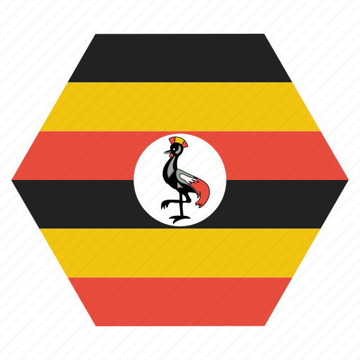 african, country, flag, national, uganda icon