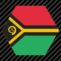 country, flag, national, vanuatu icon