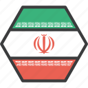 asian, country, flag, iran, iranian icon