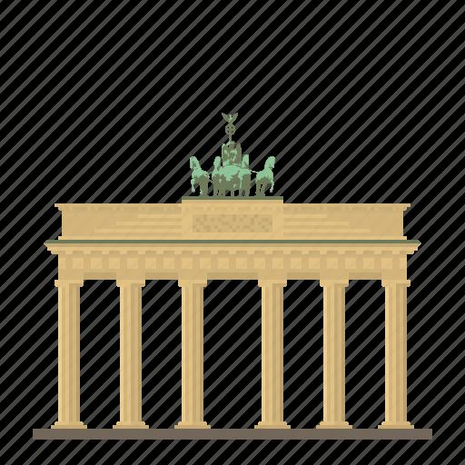 berlin, brandenburg gate, building, germany, landmark, monument icon