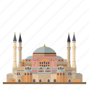 building, hagia sophia, istanbul, landmark, mosque, museum, turkey icon