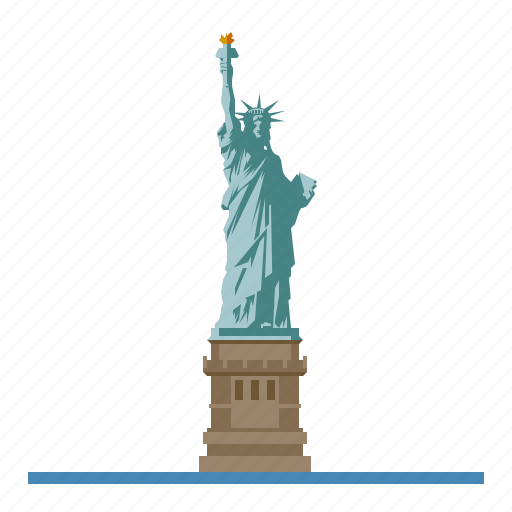 landmark, monument, new york, statue of liberty, travel, united states of america icon