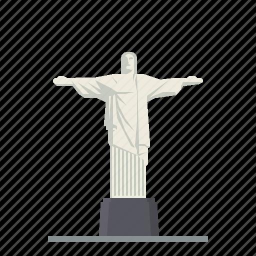 brazil, christ the redeemer, landmark, monument, rio de janeiro, statue, travel icon
