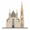 austria, cathedral, church, landmark, st stephens cathedral, stephansdom, vienna icon