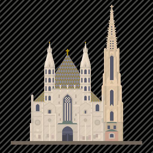 austria, cathedral, church, landmark, st stephens cathedral, stephansdom, vienna icon