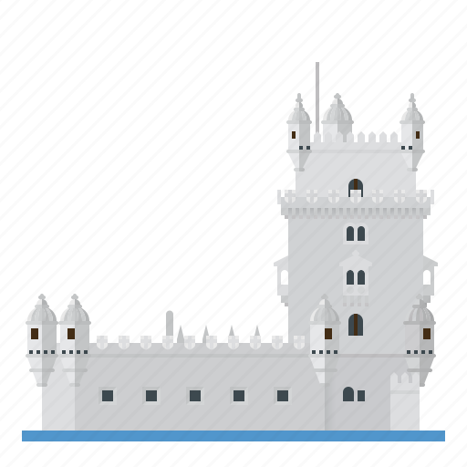 belem tower, building, fortress, landmark, lisbon, monument, portugal icon