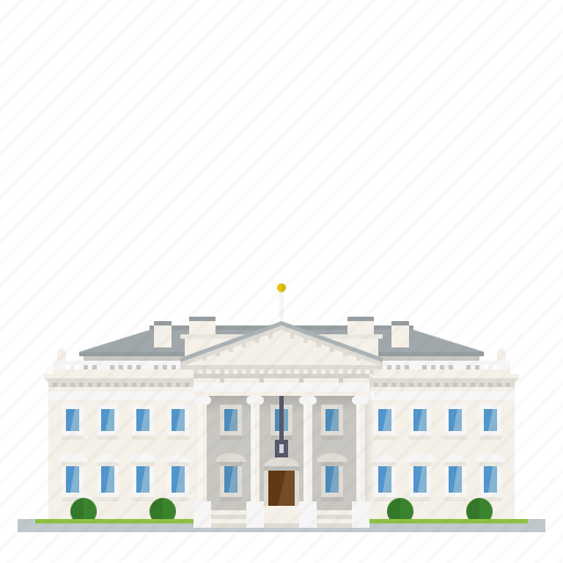building, government, landmark, residence, united states of america, washington, white house icon