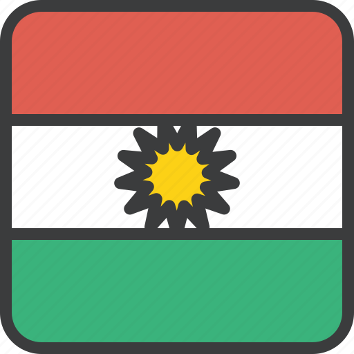 asian, country, flag, kurdish, kurdistan, national, region icon