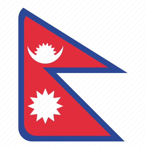 country, flag, national, nepal, nepali icon