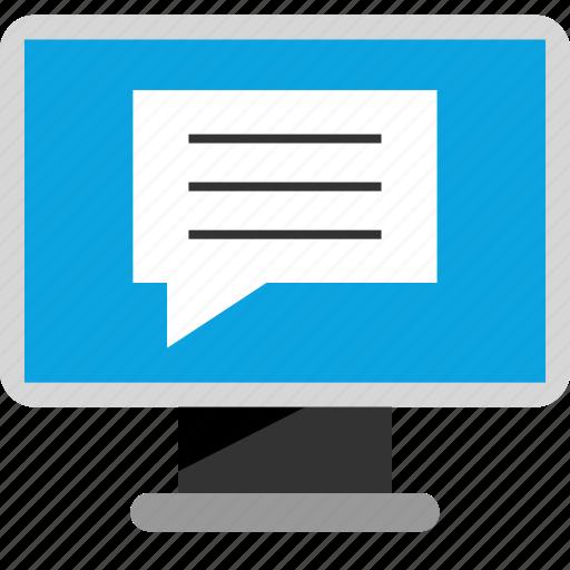 chat, internet, talk, web icon