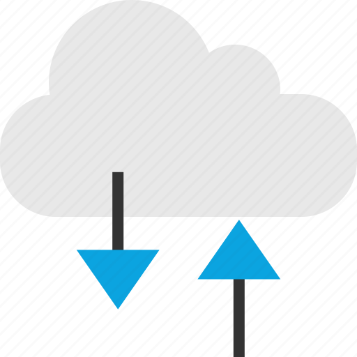 arrow, cloud, internet, web icon