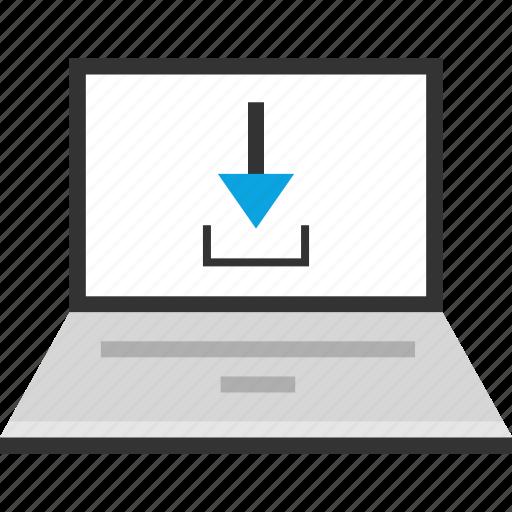 download, laptop, pc icon