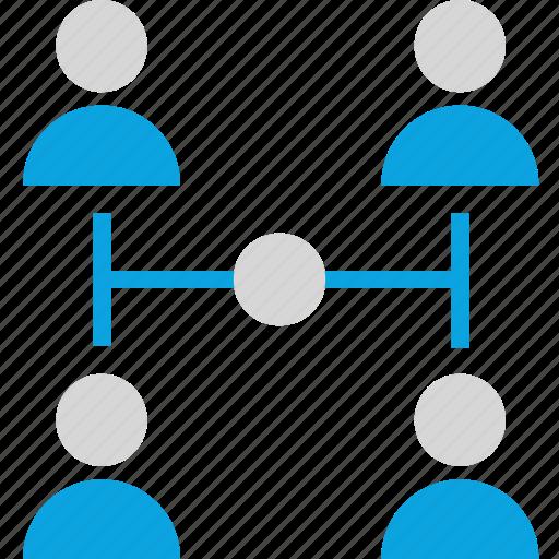 four, internet, team icon