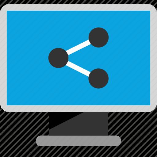 data, internet, share icon